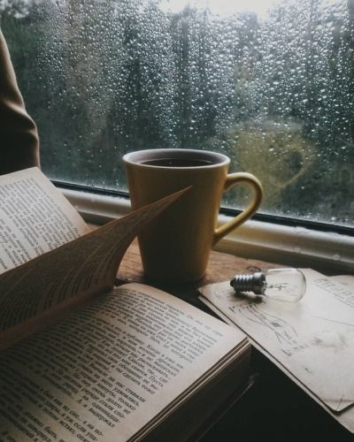 Always Persevere | Rainy day photography, Coffee and books ...