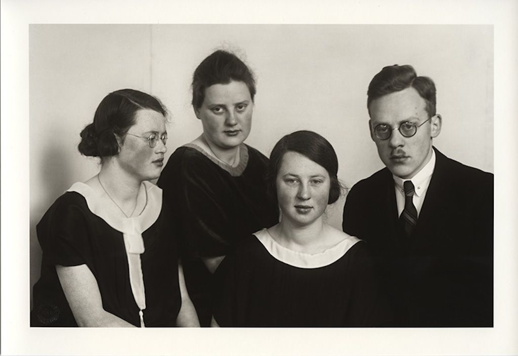August Sander. III/15/9. Sisters and Brother, c. 1927. Gelatin Silver Print, printed later by Gerd Sander © Photographische Sammlung/SK Stif...