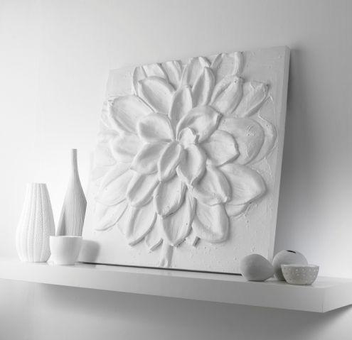 3d Wood Flower Wall Art | White 3D Flower Wall Art   Arthouse Part 45