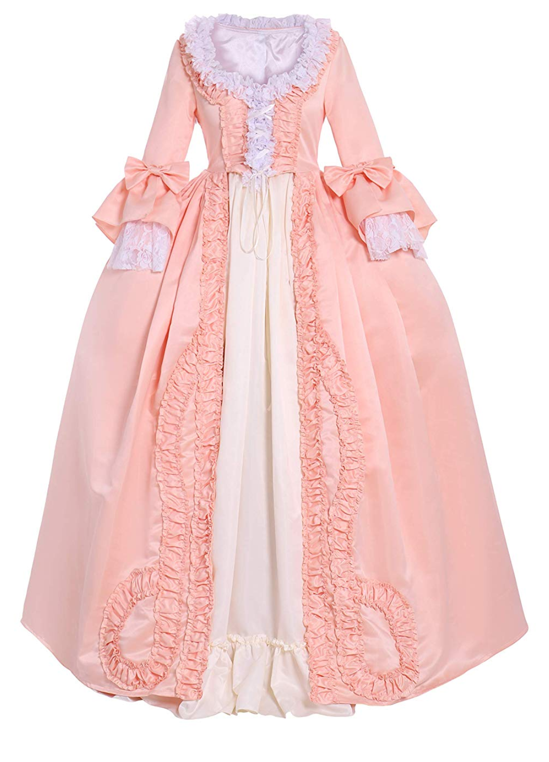 Pink And Cream White 18th Century Gown Dress Gothic Victorian Dresses Rococo Dress Victorian Dress Costume [ 1544 x 1112 Pixel ]