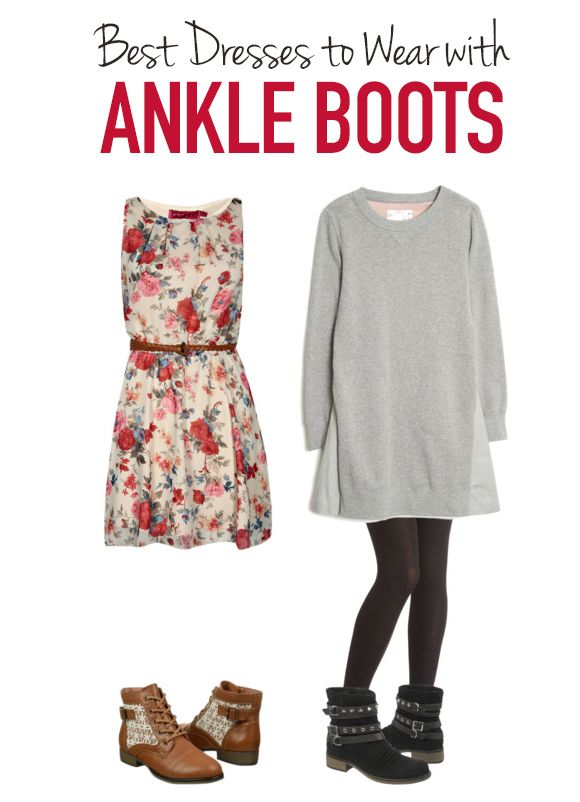 best ankle boots to wear with dresses