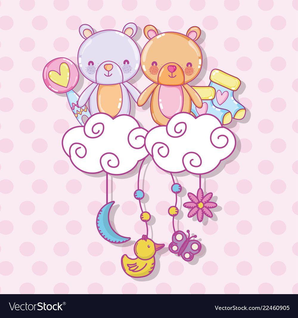 Baby shower cartoons vector image on Картинки, Поделки