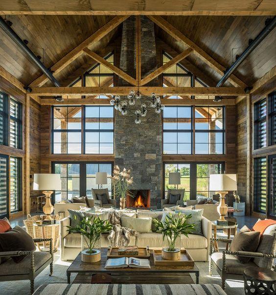 As Always Love The Wood And Stone Farmhouse Interior Design Interior Architecture Design Farmhouse Interior
