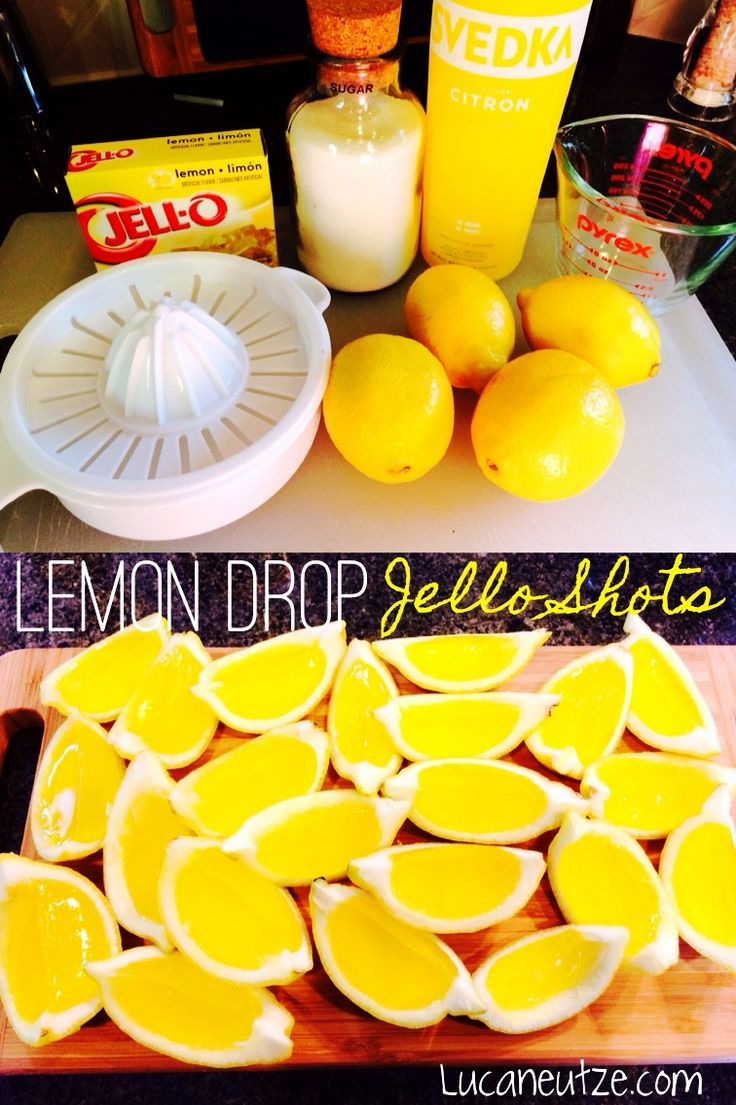 Lemon drop jello shot wedges these are so easy and so