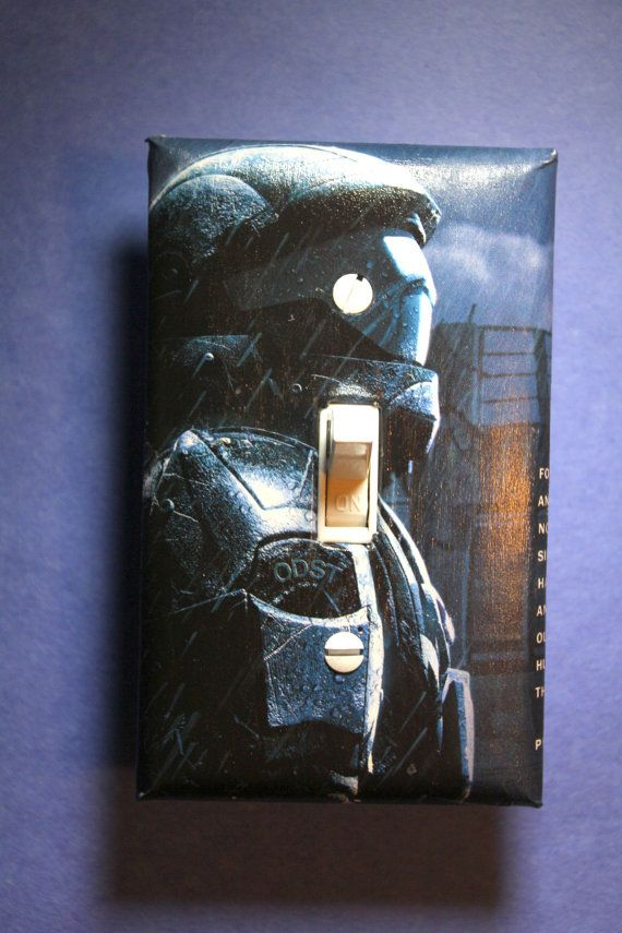 Halo Master Chief Light Switch Plate Cover gamer by ComicRecycled