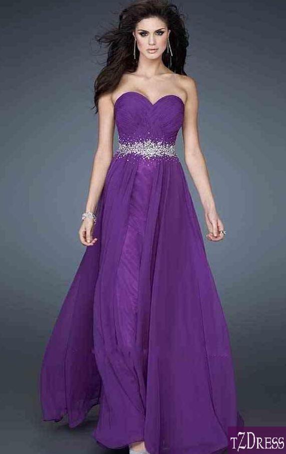 prom dress prom dresses | Vestidos lila morado largos/ Long lilac ...