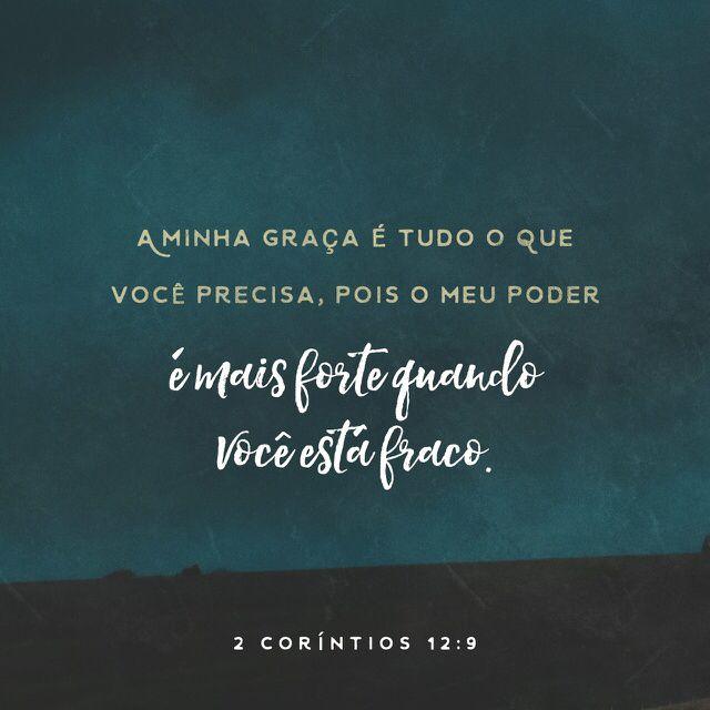 2 Corintios 12 9 Com Imagens Palavra De Deus Citacoes