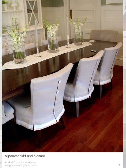Dropcloth Slipcovers For Leather Parsons Chairs Dining Room Chair Slipcovers Dining Chair Slipcovers Slipcovers For Chairs