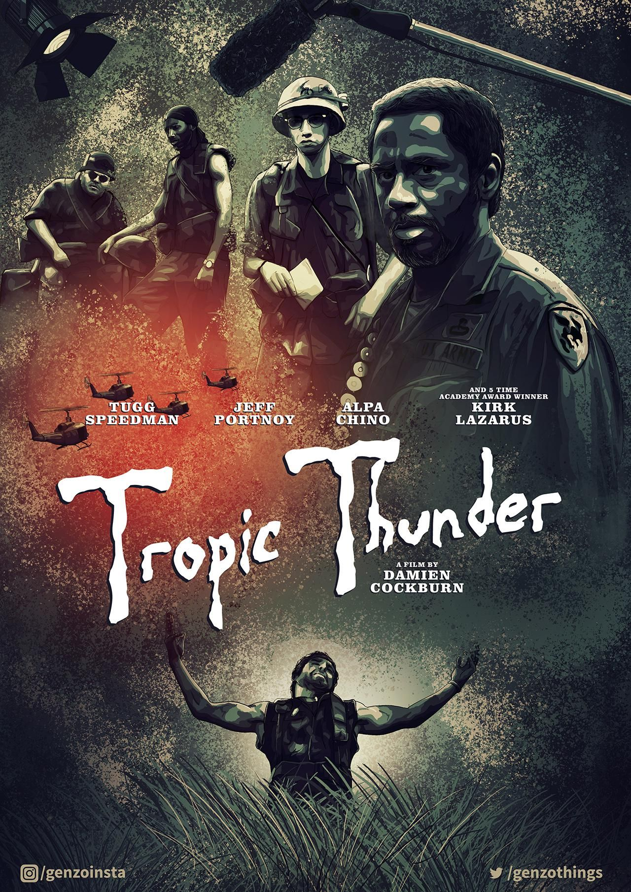 Tropic Thunder 2008 1280 X 1810 In 2020 Best Movie Posters Movie Posters Movie Tv