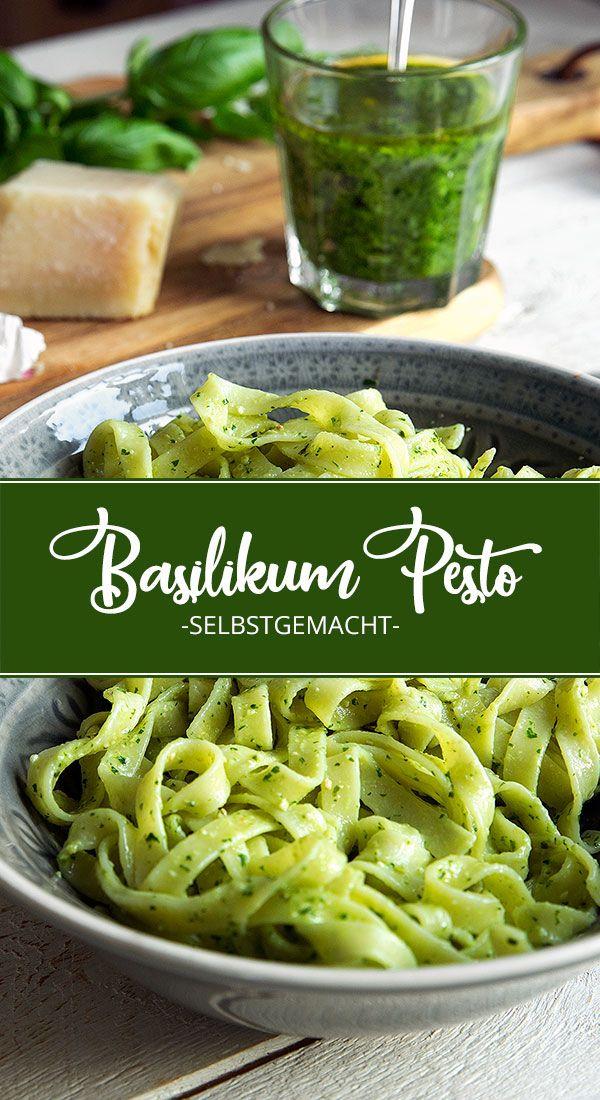 Basilikum-Pesto selbstgemacht #chickenalfredo