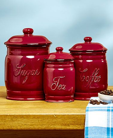 Sets of 3 Classic Ceramic Canisters | LTD FINDS | Ceramic ...