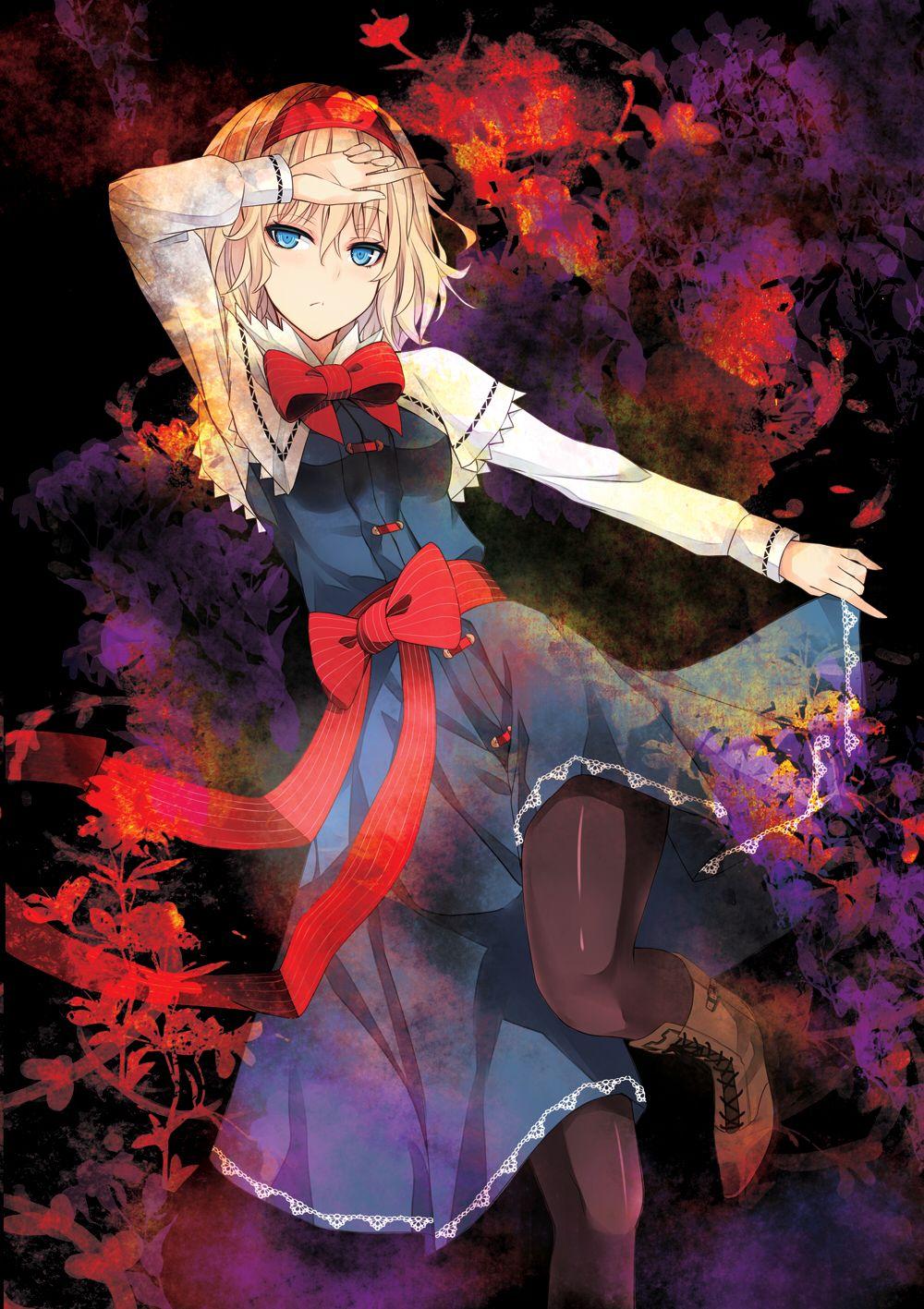 anime illustration girl Anime, Blonde hair blue eyes