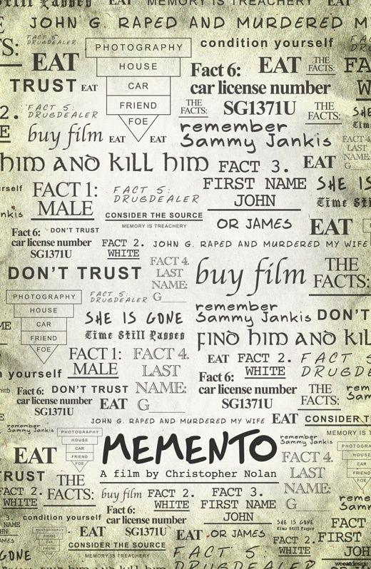 Memento Alternative Movie Posters Memento Movie Cinema Posters