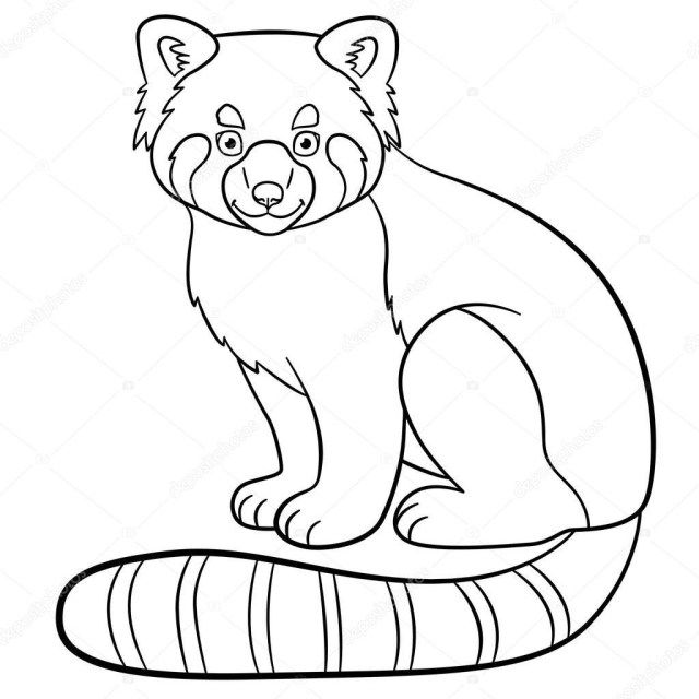 Exclusive Picture Of Red Panda Coloring Page Printable Coloring