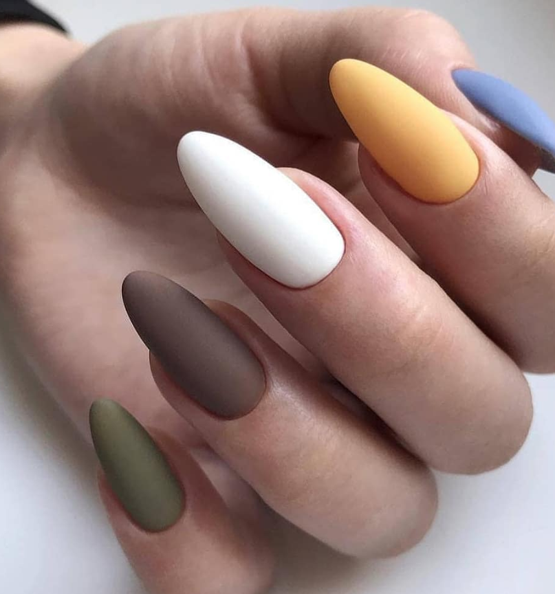 64 Chic Natural Almond Acrylic Nails Shape Design You Won T Resist This Spring Summer Page 39 Of 64 Latest Fashion Trends For Woman Acrylic Nail Shapes Almond Acrylic Nails Multicolored Nails