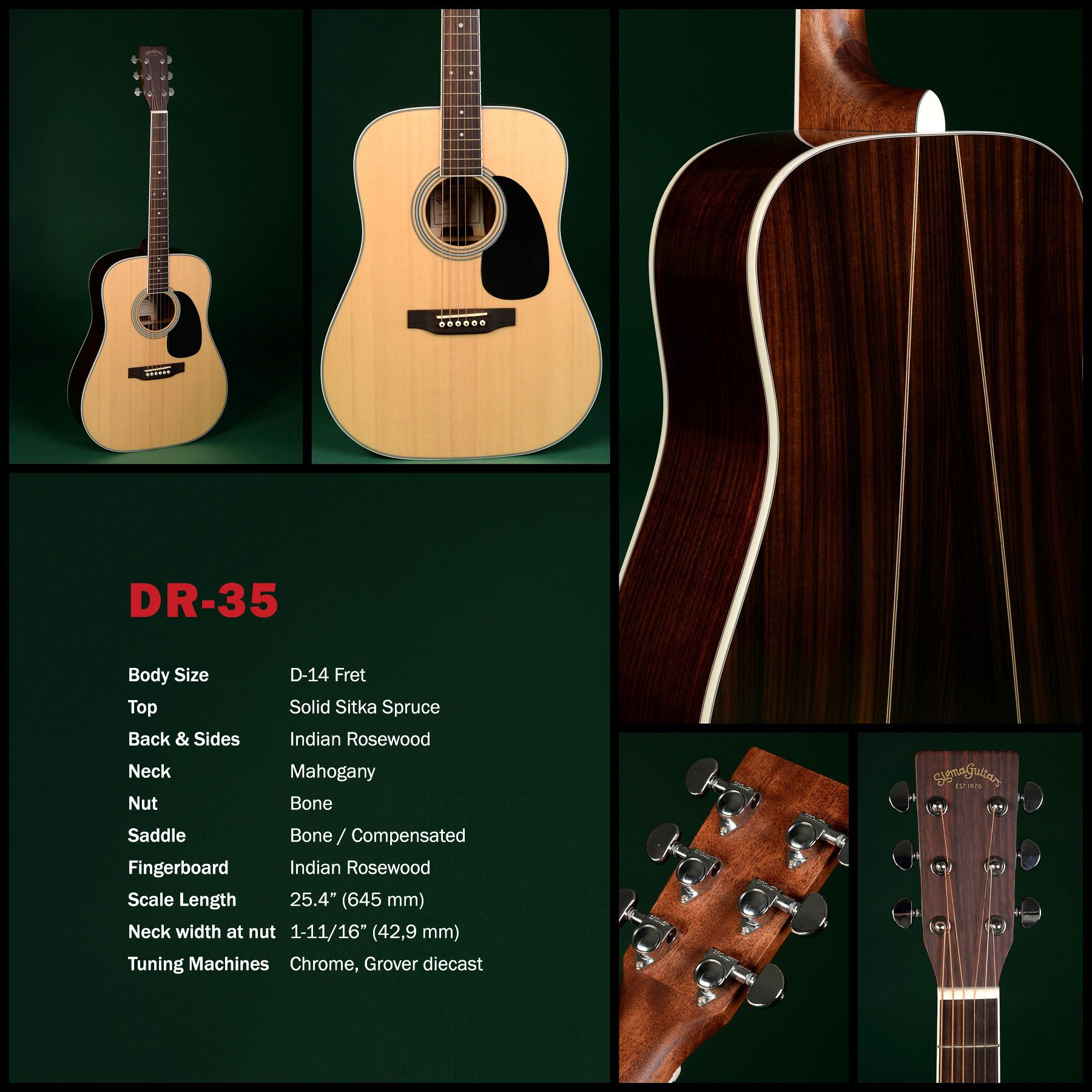 The Sigma Story Goes On Dr 35 Guitar Martin Acoustic Guitar Acoustic Guitar