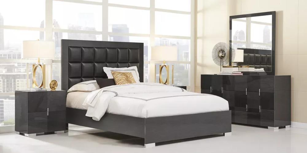 Dominique Black 5 Pc Queen Panel Bedroom In 2021 Bedroom Sets Queen Bedroom Sets King Bedroom Sets