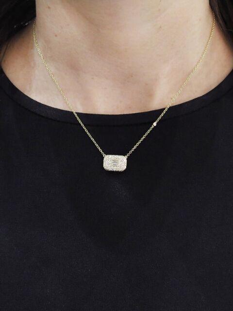 SHAY Jewelry - Essential Pavé Diamond Necklace - Yellow Gold