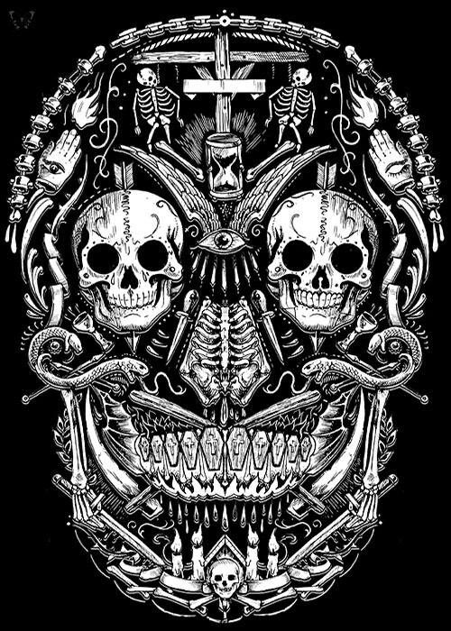 Black White Skull Collage Skull Artwork Skull Skull Art