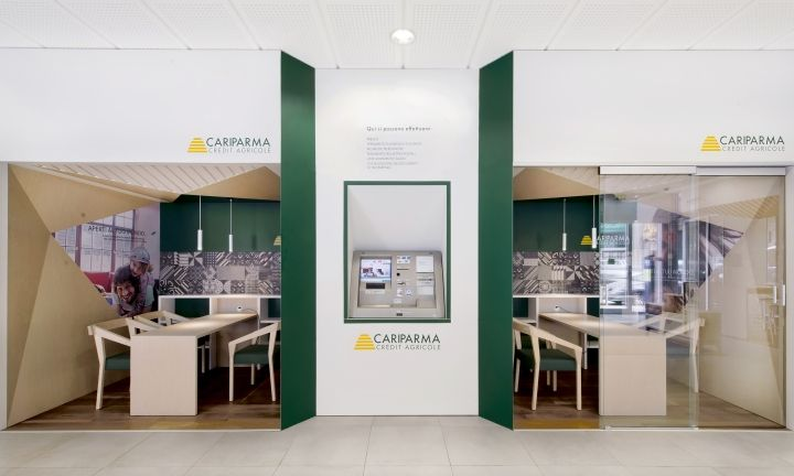 My House Bank Branch Concept Of Cariparma Credit Agricole By Dinn Milan Italy Retail Design Blog Bank Interior Design Design House