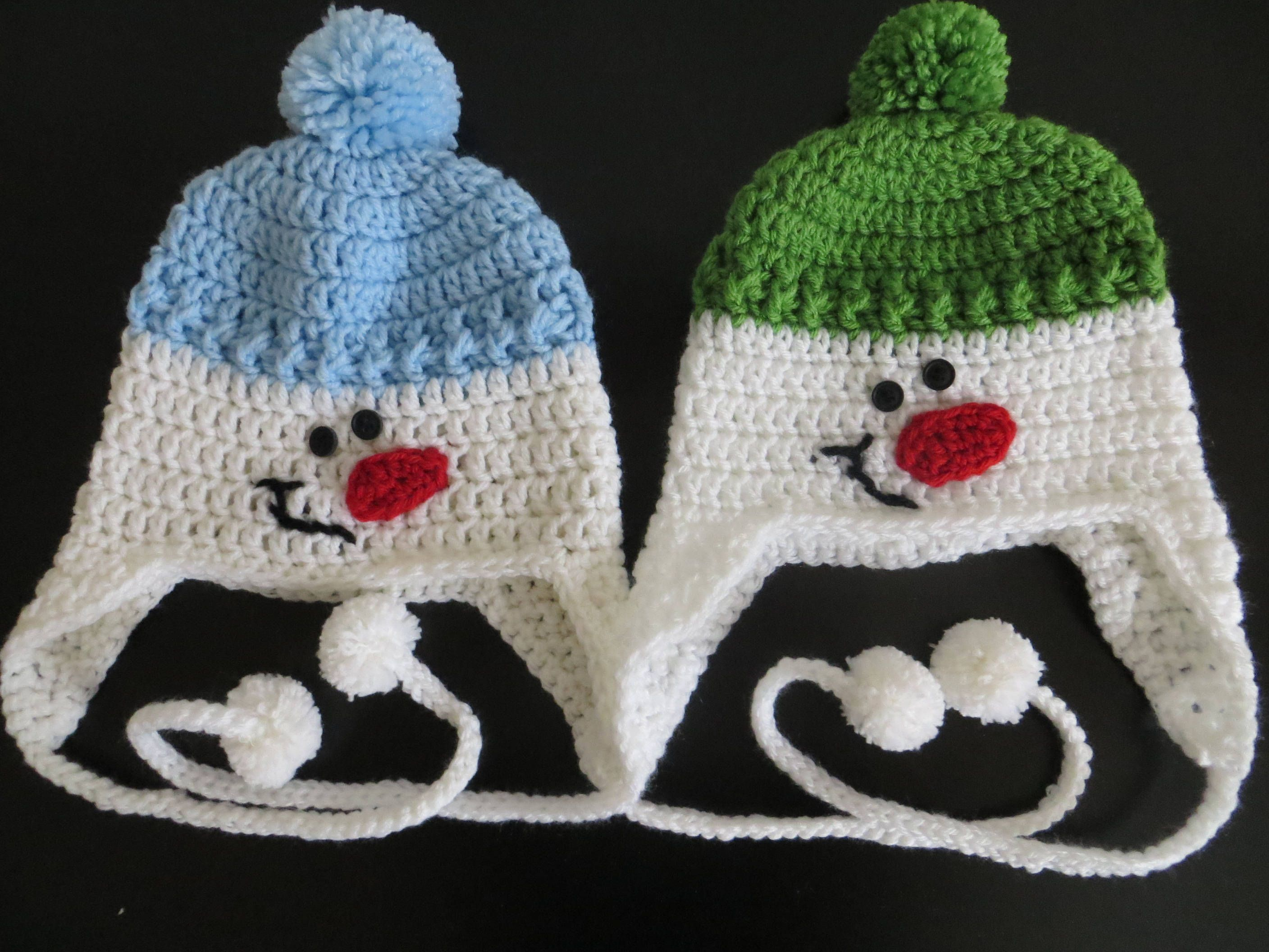 9115907f5 Crochet snowman hat, kids hat, girl hat, boy hat, christmas gift by ...