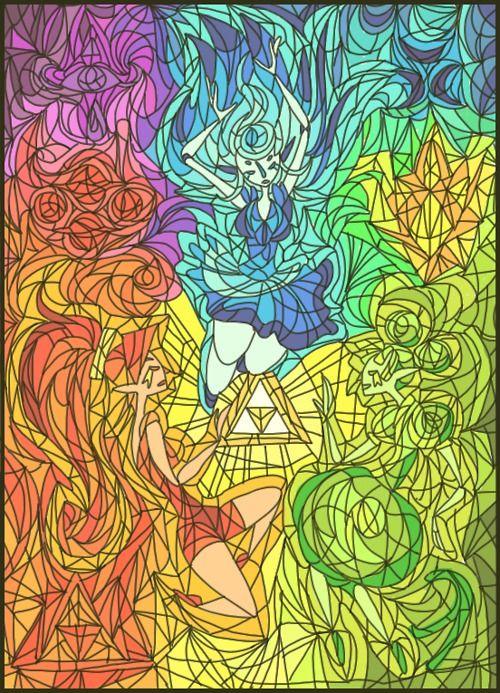 Legend of Zelda Golden Goddesses Nayru Farore and Din by HaruFREAK