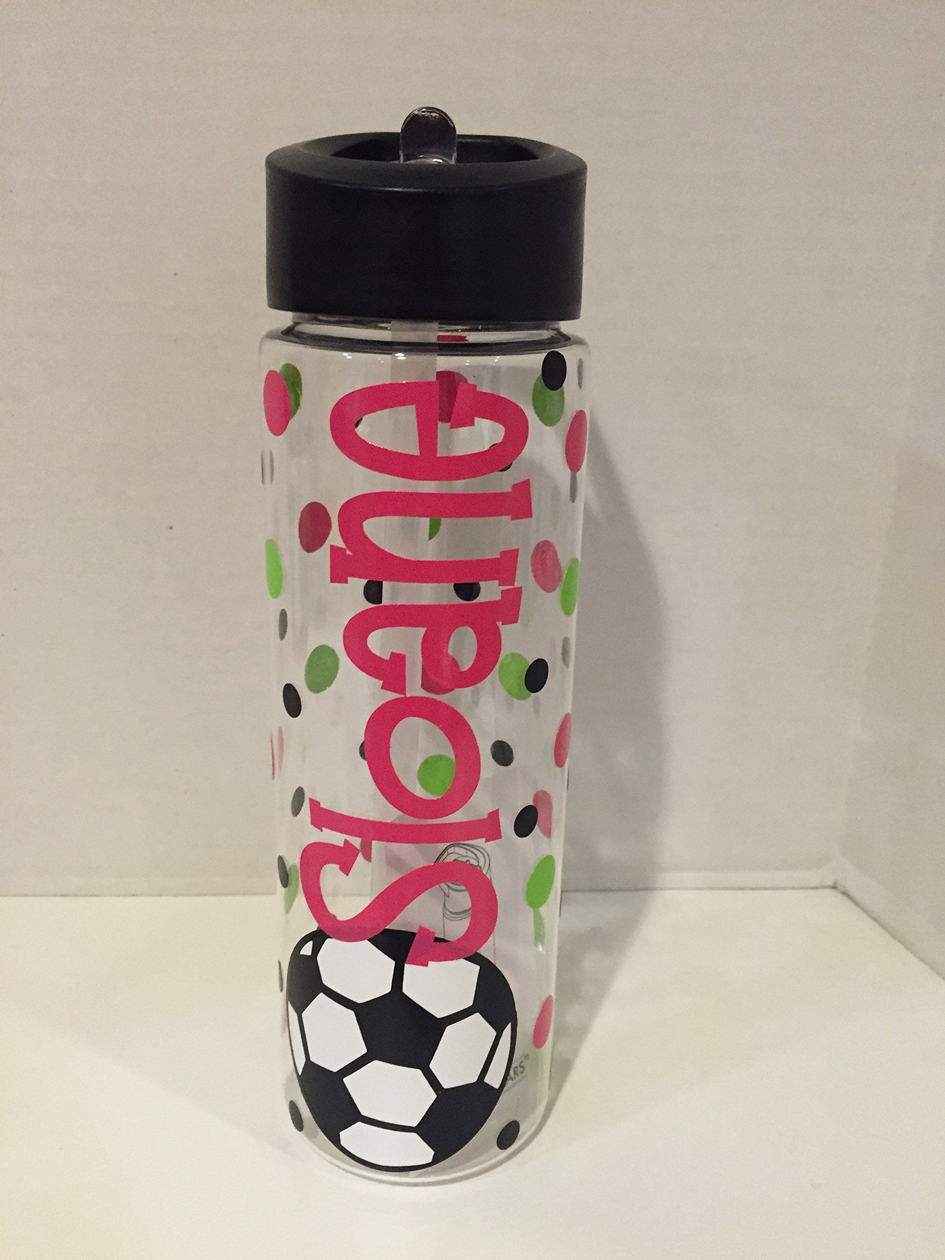 Personalized soccer 24 ounce BPA free water bottle