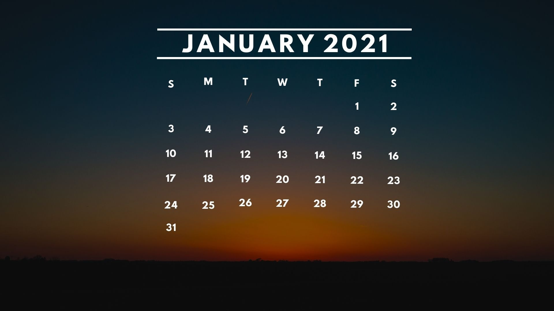 January 2021 Desktop Calendar January 2021 Calendar Desktop Background Wallpaper Download in