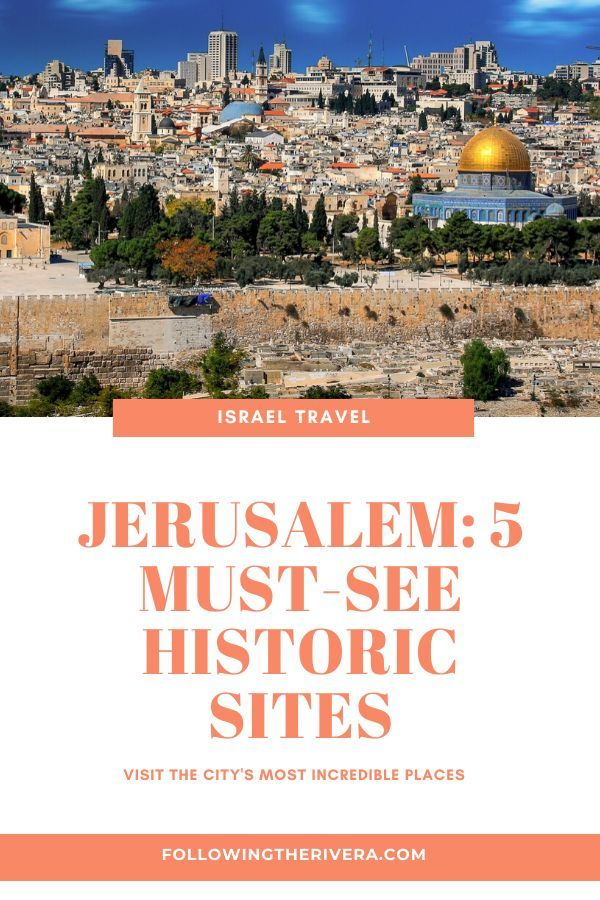 Connect with the #history and #spirituality of #jerusalem by visiting some of the city's most historic sites. Use this guide to make the most of your #israeltravel #travel #israel #traveltips #traveldestinations #travelideas #travelersnotebook #traveladvice #traveladviceandtips #traveltipsforeveryone #traveladdict #travelawesome #travelholic #travelguide