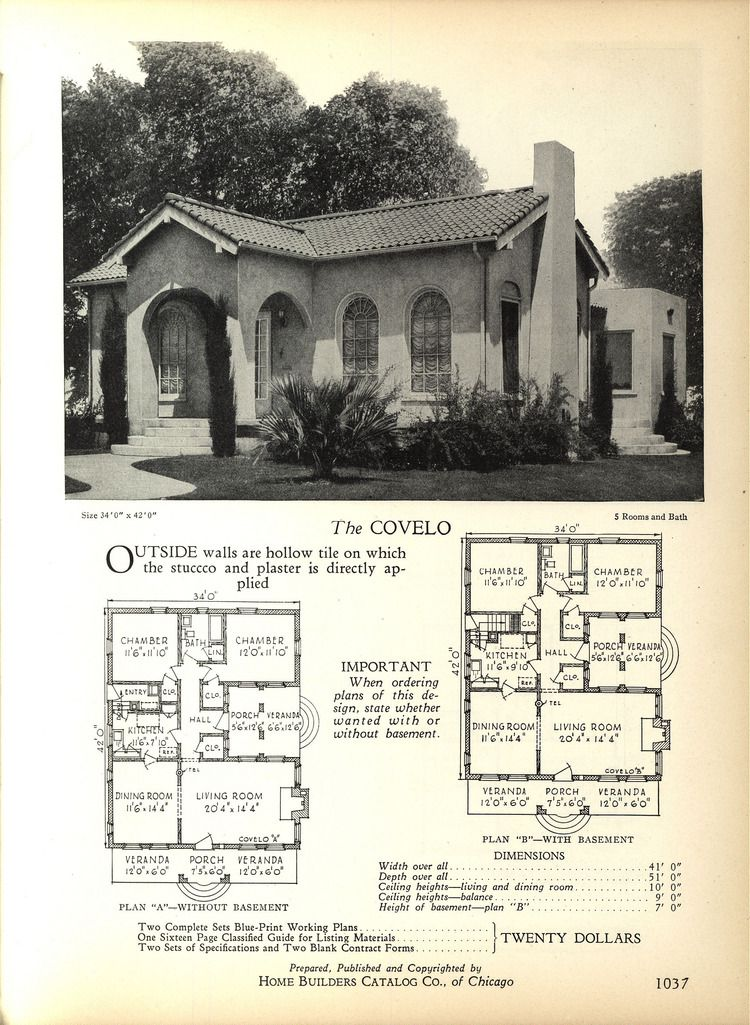 1928 Home Builders Catalog Spanish Style Homes Mediterranean House Plans How To Plan