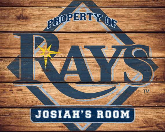 Mlb Tampa Bay Rays Team Sign Printable By Faithfamilyfundesign Baseball Wall Art Printable Signs Tampa Bay Rays
