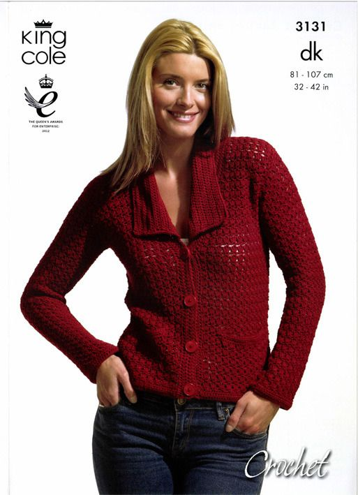 Crochet Jacket and Top in King Cole Bamboo Cotton DK - 3131. Discover more Patterns by King Cole at LoveKnitting. We stock patterns, yarn, needles and books from all of your favorite brands.
