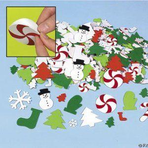 500 Fabulous Foam Christmas Sticker Self Adhesive Shapes