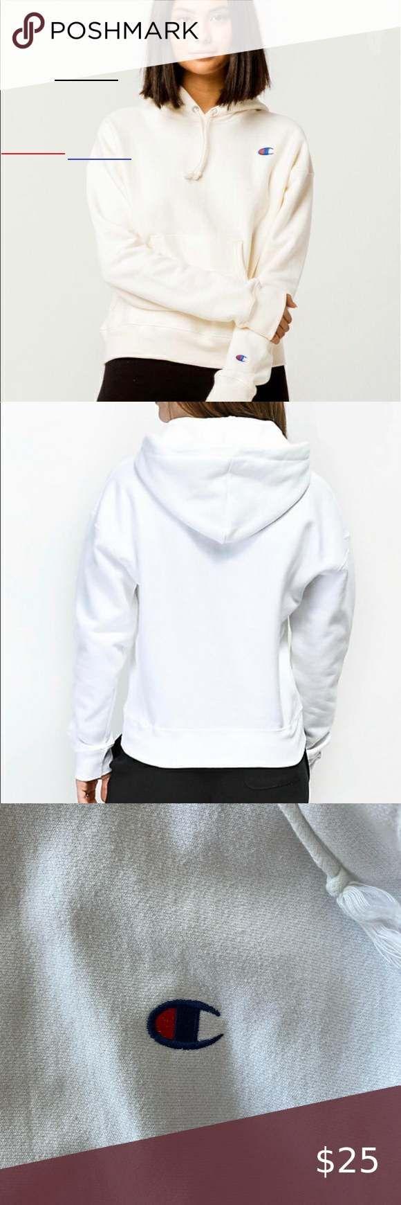White Champion Hoodie White Xs Champion Tops Sweatshirts Hood Championhoodie White Champion Hoodie Wh In 2020 Kapuzenpulli Kapuzenpullover Damen Herbstmode [ 1740 x 580 Pixel ]