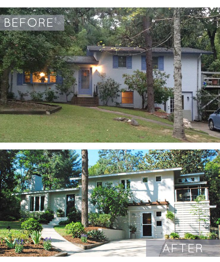 Home Exterior Remodel: Before And After: Split-Level Remodel