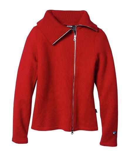 Kuhl Prague™ Sweater Jumper Women L crimson red Full Zip wool new ...