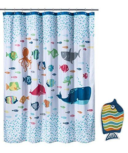 Circo Fish Shower Curtain And Bath Rug Set