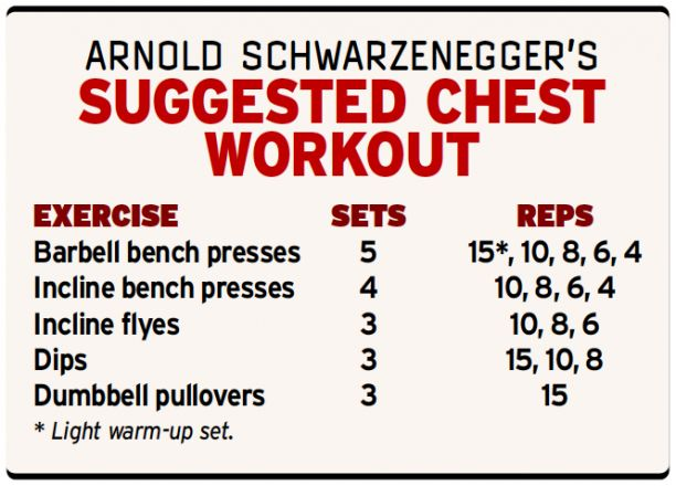 Arnold Schwarzenegger Suggested Chest Workout