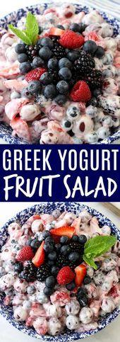 Photo of Greek Yogurt Fruit Salad Greek Yogurt Fruit Salad This image
