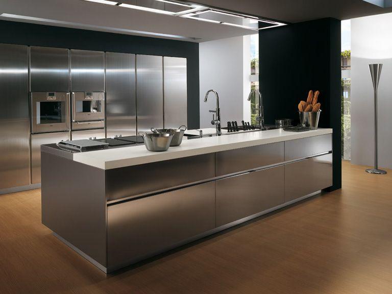 21 Awesome Stainless Steel Kitchen Design Ideas Kuchendesign Modern Metall Kuchenschranke Moderne Kuchendesigns