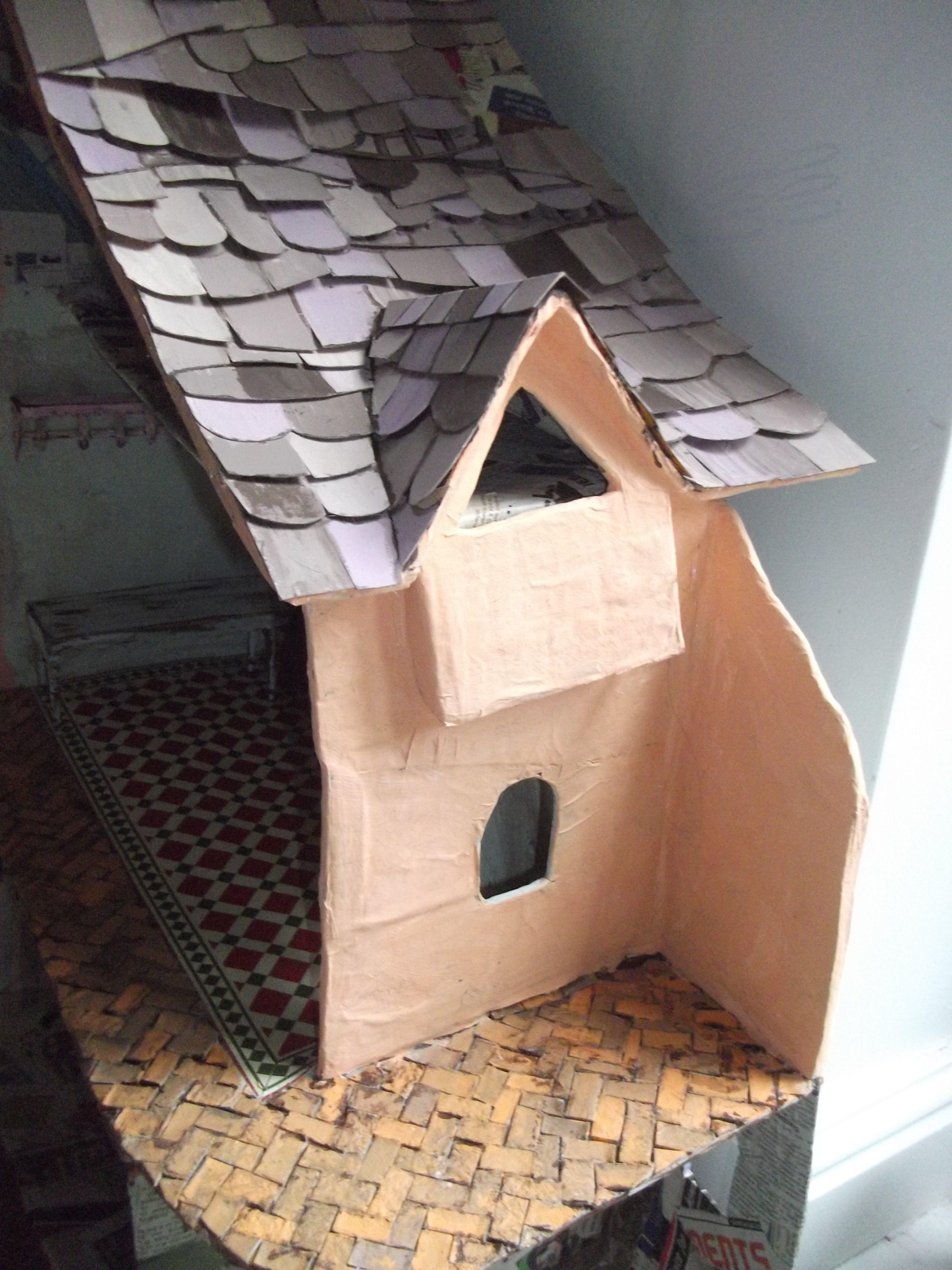 Amazing Effects With Paint And Cardboard For A Diy Dolls House Doll Diy Crafts Diy Dollhouse Diy Doll
