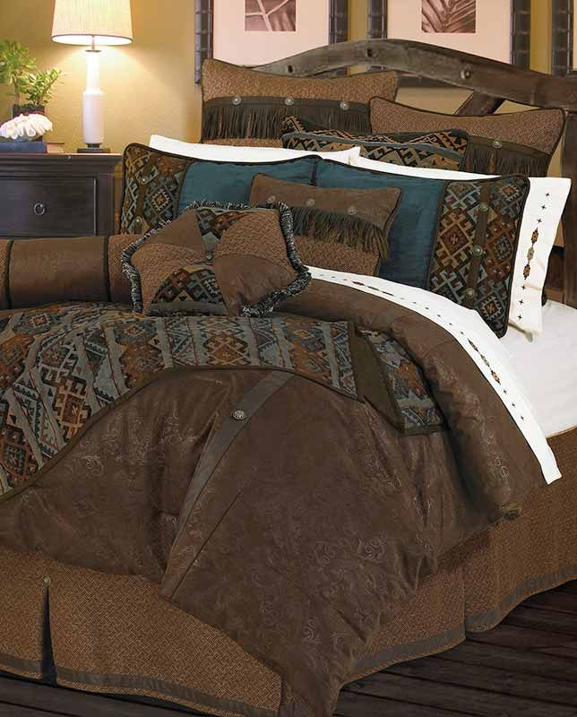 Blue Cross Western 5 Piece Super Size Comforter Bedding Set FREE SHIPPING