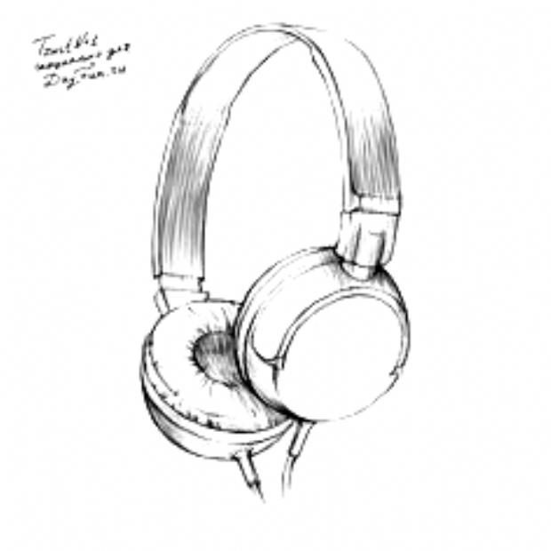 How To Draw Headphones Step By Step 4 In 2020 Headphones Drawing Music Drawings Art Drawings Sketches