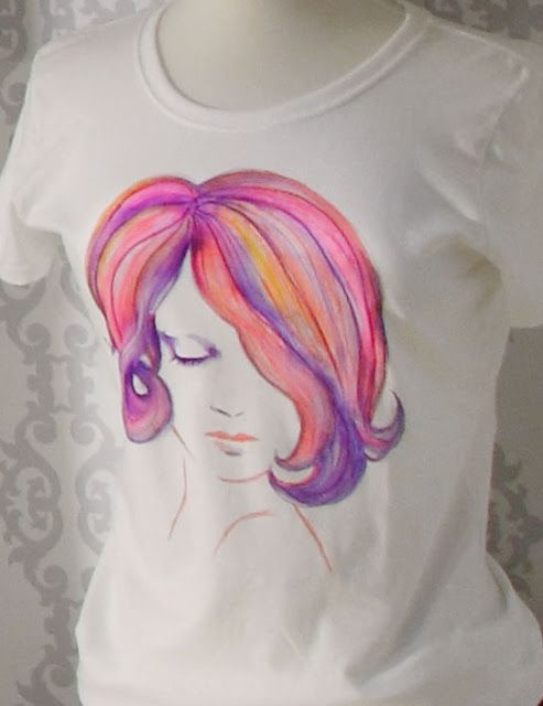 Watercolor T Shirt Workshop Tulip Fabric Markers Fabric