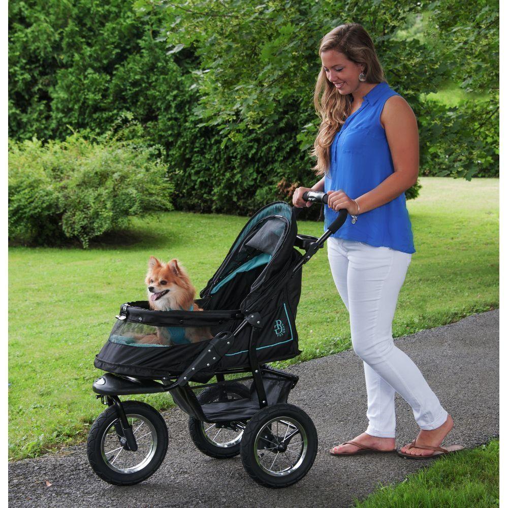 Pet Gear NoZip NV Pet Stroller Zipperless Entry Sky Line