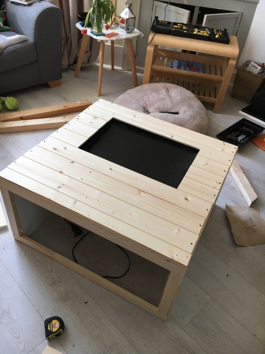 The Ex Pedit Box An Arcade Coffee Table Ikea Hackers Pallet Diy Funky Furniture Coffee Table [ 1200 x 900 Pixel ]