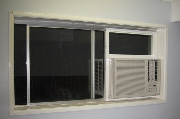 side slide window ac unit install | Installing air conditioner for