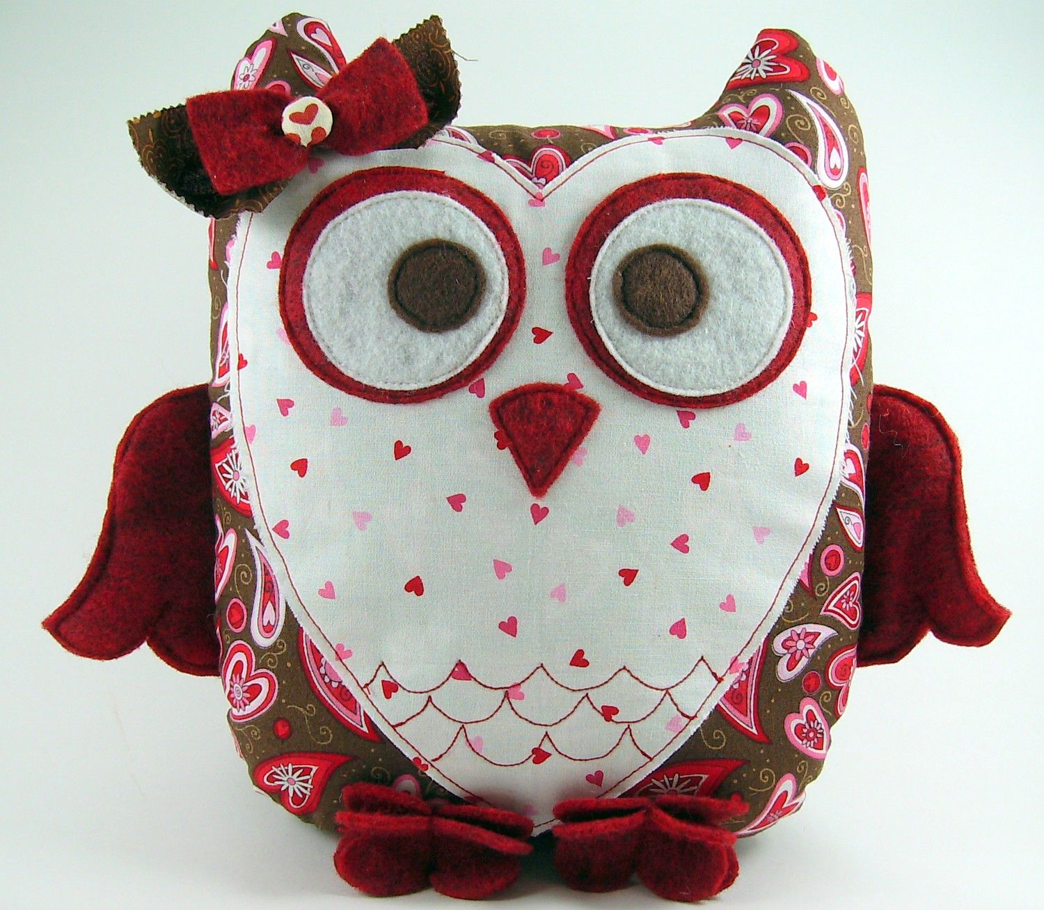 Sweetheart owl pillow pattern plush sewing tutorial owl sweetheart owl pillow pattern plush sewing tutorial jeuxipadfo Image collections