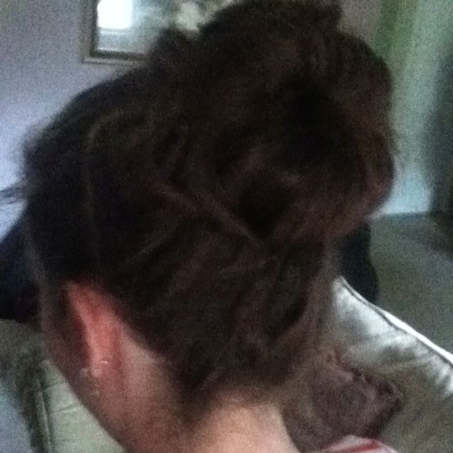 I tried the sock bun! It's huge and messy and there isn't a single hairpin in it. In other words, it's PERFECT : )
