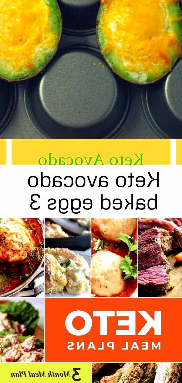 Keto Avocado Baked Eggs Keto meal plan 3 month printable